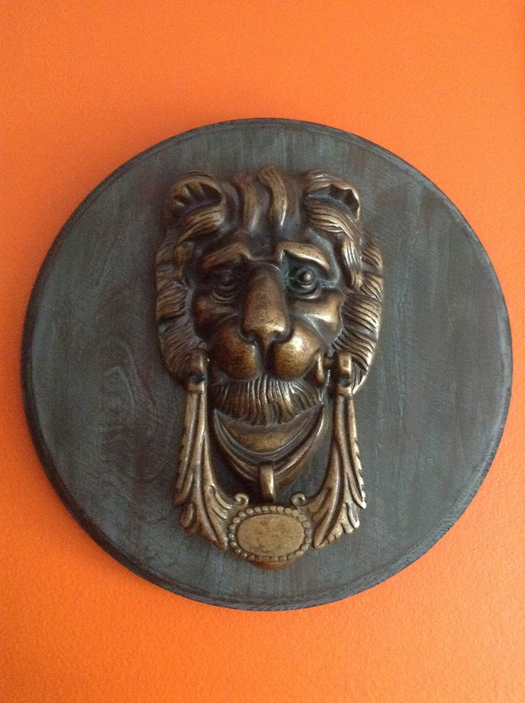 A rather regal door knocker that was given to me as a gift.