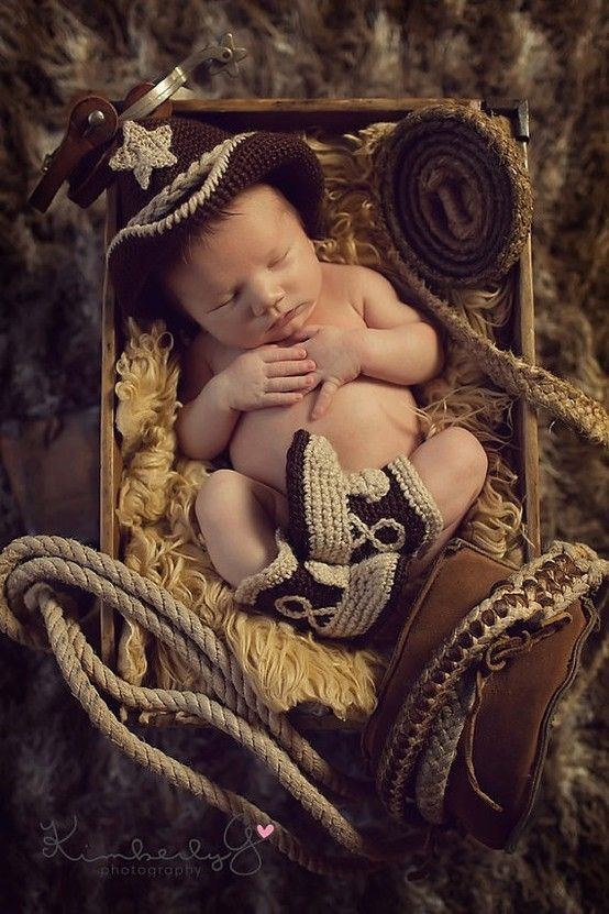 Cowboy newborn photos baby cowboy by megannn