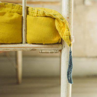 b1e3b2d51e40f Couverture d été jaune tournesol NUMERO74 l little-home.fr gaze coton linge
