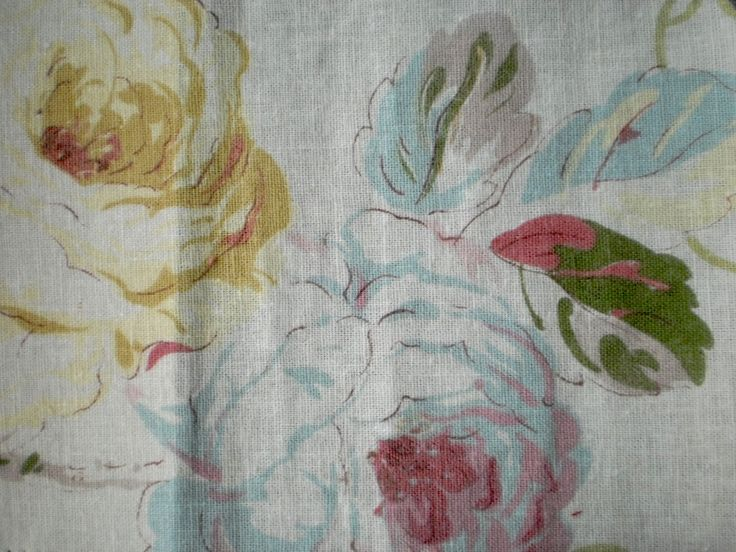 Vintage style Cotton Floral Fabric  Floral Design fabric with cream background and pastel colour.  Ideal for cushions, blinds, curtain and upholstery.