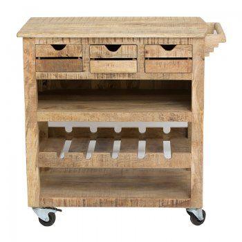 Keukenkast Lavis Rena | keukentrolley van hout
