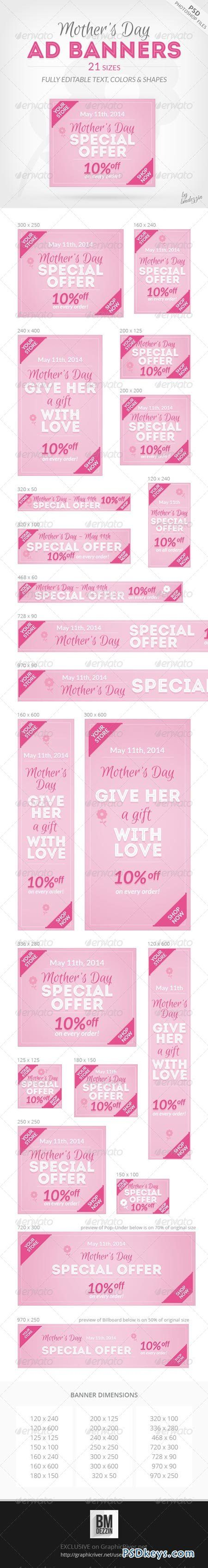 Mothers Day Ad Banners 7655007