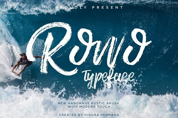 Rowo Typeface + Bonus Introduction Rowo Brush Font! Rowodesigned by ndro, this is a premium font, are sold on creativemarket, but it was great, it