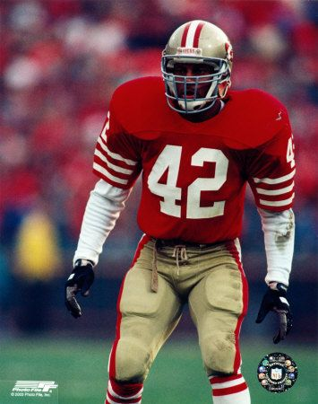 Ronnie Lott- Strong Safety- one of the hardest hitting players I've ever seen.