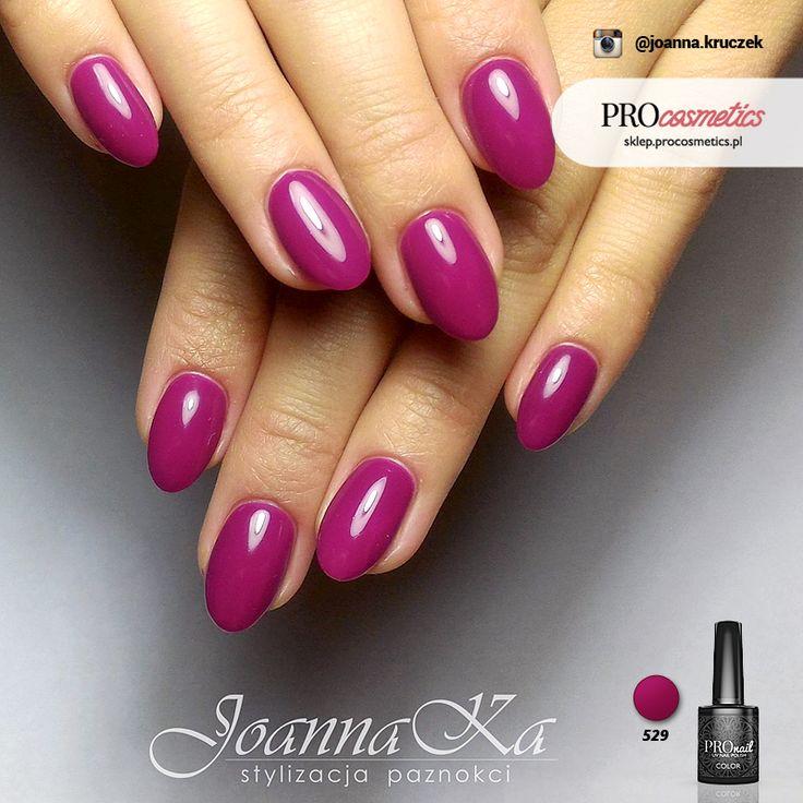 Amarantowe paznokcie - Amarantowy Bukiet - paznokcie hybrydowe żelowe PROnail 529