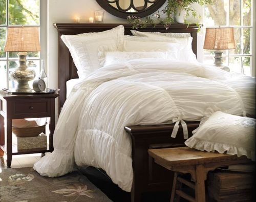 great bedding challenge itu0027s all a ruche off white