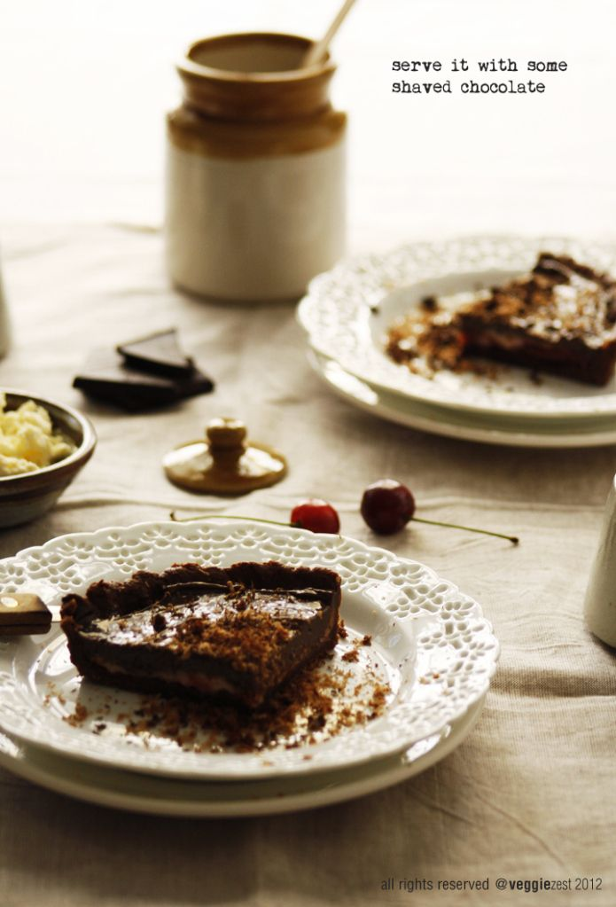double chocolate tart | Yummy! | Pinterest