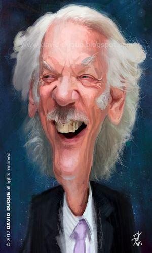 [ Donald Sutherland ] - artist: David Duque - website: http://david-duque.blogspot.com/