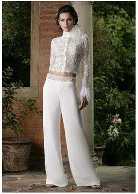 Bridal pant suit
