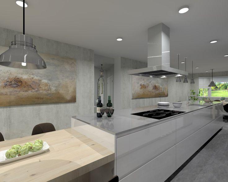 Cocina Santos Modelo Line Lmaniado Blanco Polar Brillo Encimera Silestone Grey Amazon