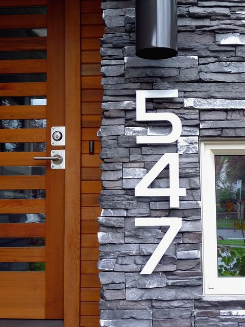 All sizes | Modern house numbers vertical close P1040720 | Flickr - Photo Sharing!