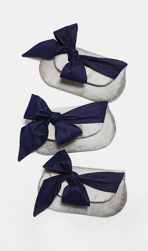 Bridesmaid Clutch navy blue beach wedding nautical