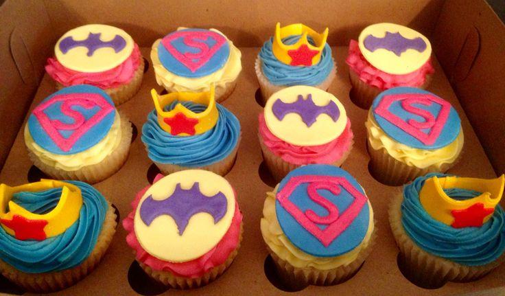 Women Super Hero Cupcakes