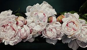 Painting Painting - Peonies Balance by Thomas Darnell