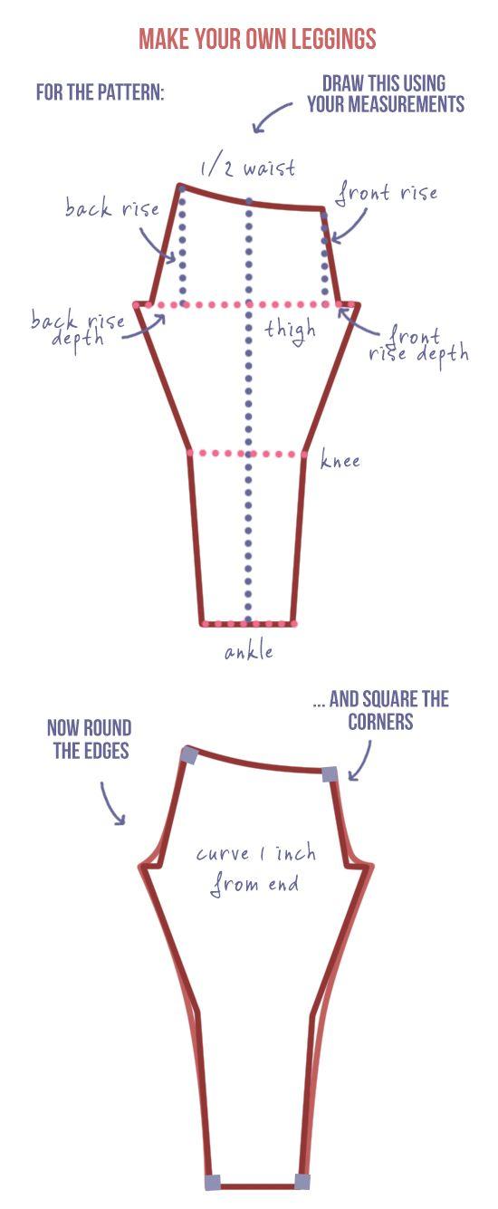 Make your own leggings DIY