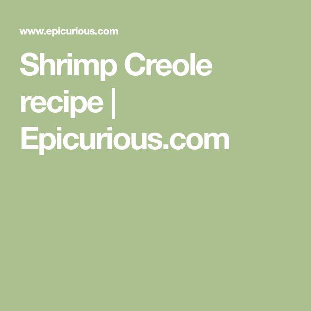 Shrimp Creole recipe   Epicurious.com