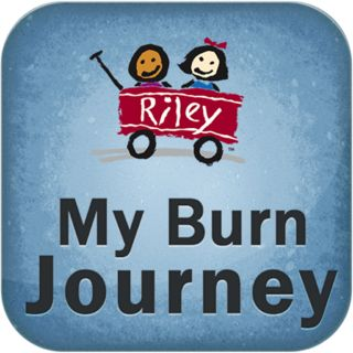 """My Burn Journey is an app developed by The Burn Center at Riley Hospital for Children and the Child Life Program to """"help children learn about bandage changes and the operating room (OR) experience."""""""