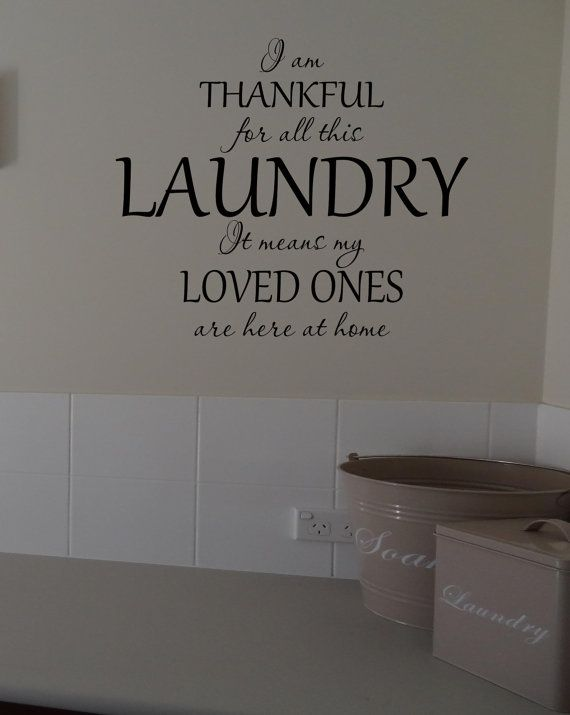 Laundry Room Vinyl Lettering Wall Words by OZAVinylGraphics