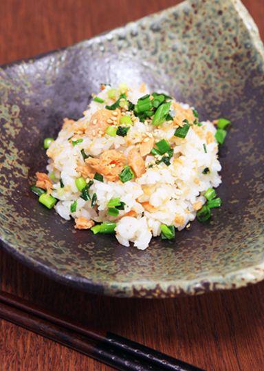 鮭とネギ塩ダレの混ぜご飯 のレシピ・作り方 │ABCクッキングスタジオのレシピ | 料理教室・スクールならABCクッキングスタジオ