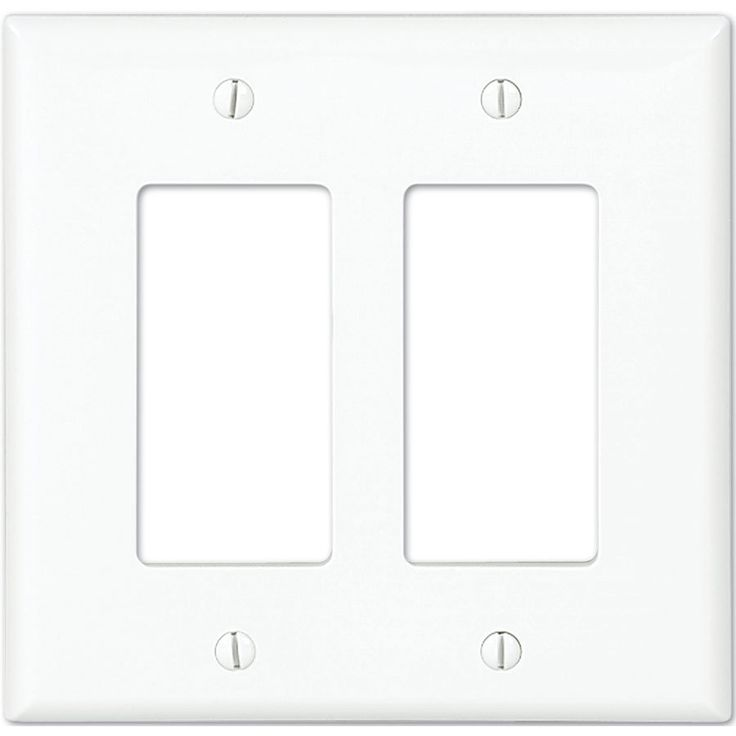 eaton 2gang white double decorator wall plate