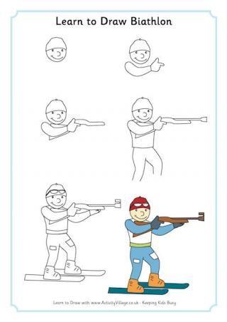 Learn to Draw Biathlon