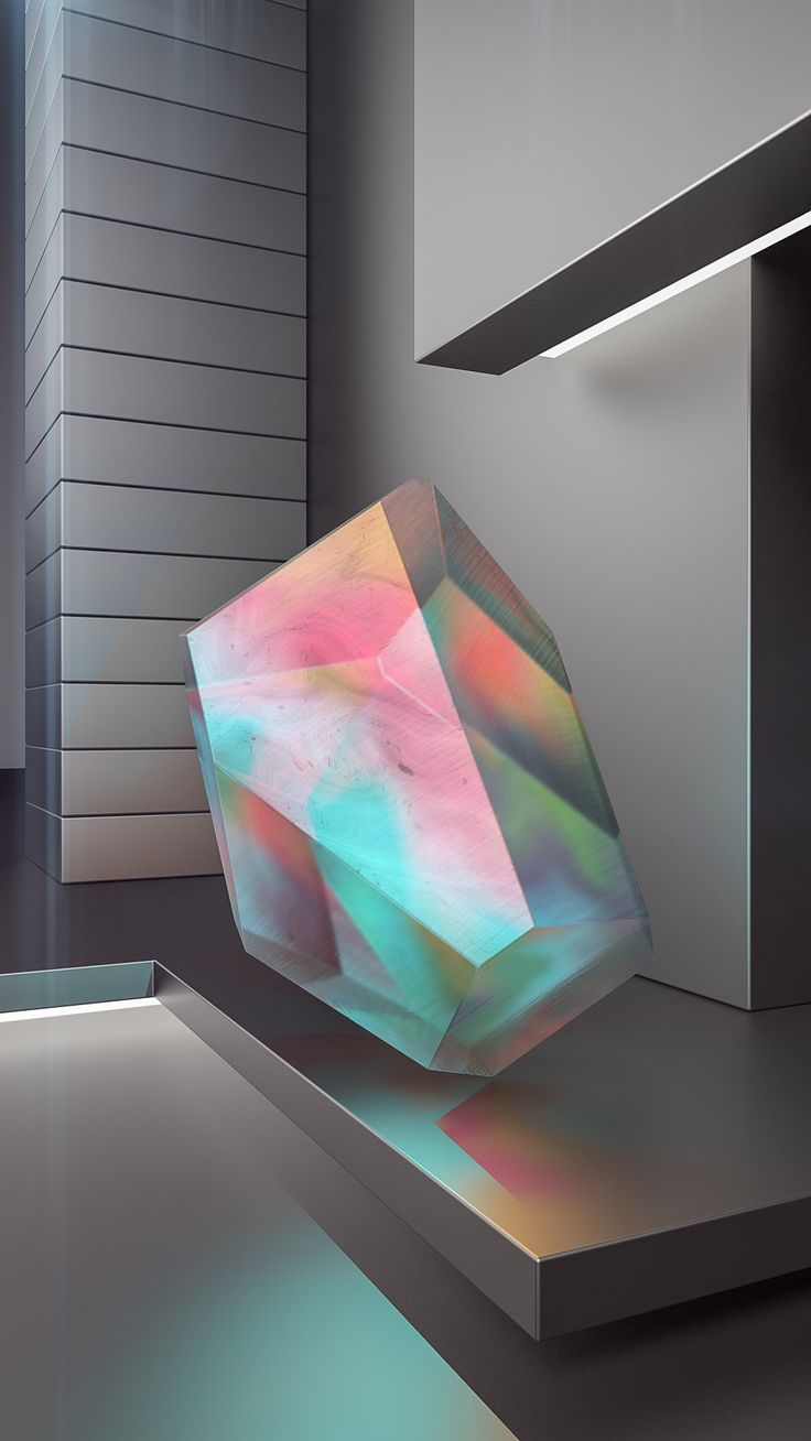 "trnscndnt: "" Crystal Series The beauty of iridescent minerals and modern architecture finding each other in a non-narrative series. Through this phenomenon, minimalism witnesses the journey of..."