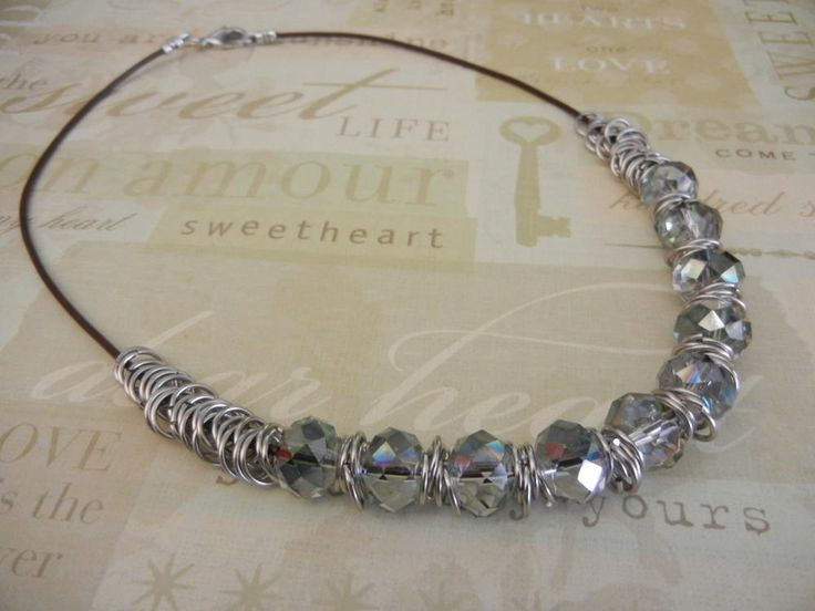 Easy Jump Ring and Crystal Necklace | AllFreeJewelryMaking.com