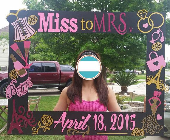 wedding/bachlorette party photo frame prop by caro443 on Etsy