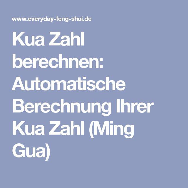Feng Shui Zahlen kua zahl berechnen automatische berechnung ihrer kua zahl ming gua