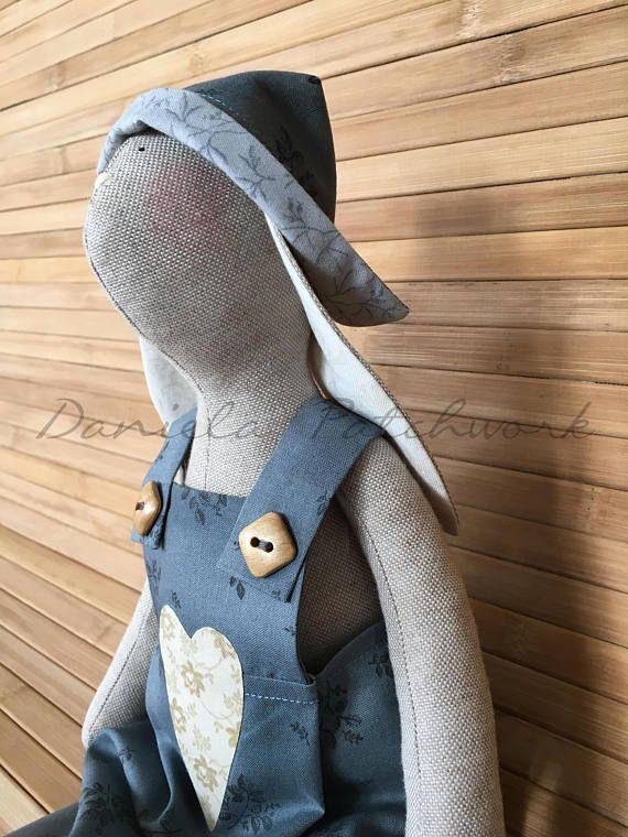 primitive tilda doll bunny rabbit toys. fabric animals stuffed