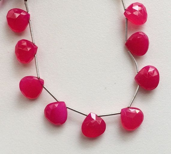 Pink Chalcedony Faceted Heart Pink Chalcedony by gemsforjewels