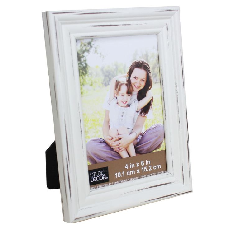 Distressed White Frame, Simply Essentials™ By Studio Décor®