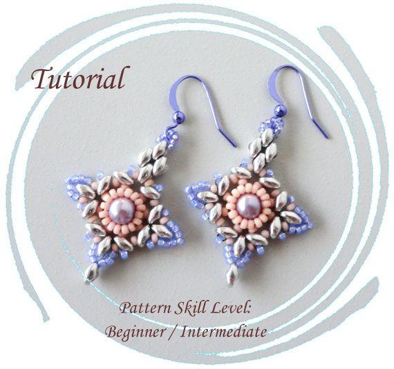 ETOILE du BERGER beaded earrings beading tutorials and