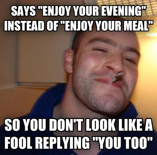 Good guy restaurant worker