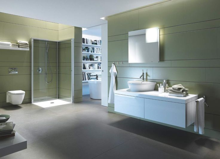 Dusche Neben Badewanne Abtrennung : OpenSpace Duravit Creating space Doors can simply be ?folded