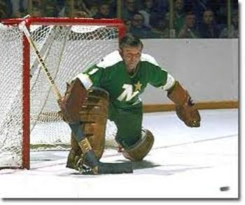 """""""Gump"""" Worsley was one of the last goalies in the NHL to play without a mask and one of the great quipsters in hockey history. He was also a fine goalie. Worsley earned his nickname because of his alleged resemblance to comic book character Andy Gump."""
