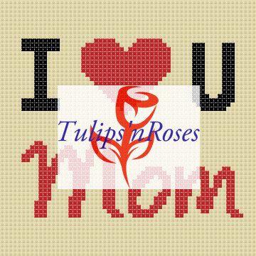 I Love U Mom by TulipsnRosesGraph on Etsy
