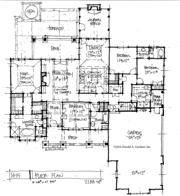 295 best house plans images on pinterest craftsman house for Ranch floor plans with mudroom