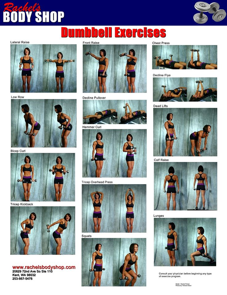 Click for a poster of dumbbell exercises