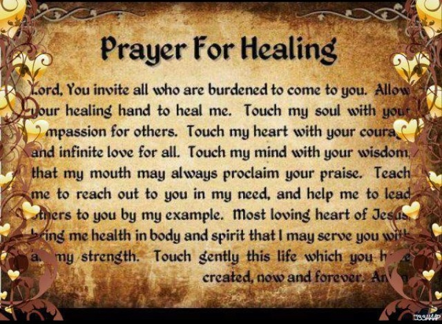 Help me find a prayer for the patients recovery