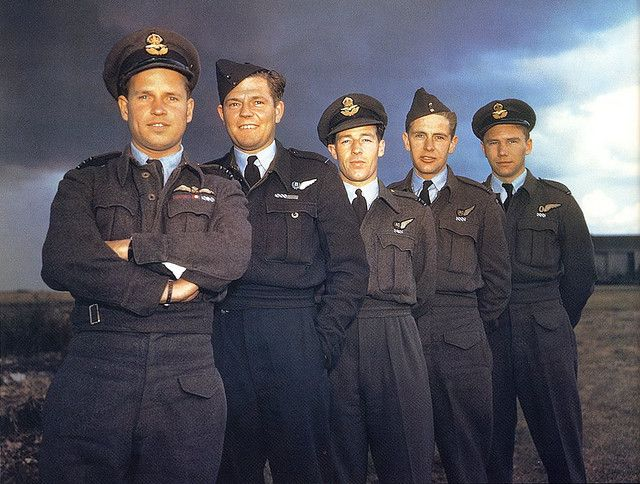 Wing Commander Guy Gibson VC with his crew that formed part of 617(Dambuster) Sqn. in July 1943. Apart from Gibson they are ;Bomb aimer, Pil... World War II