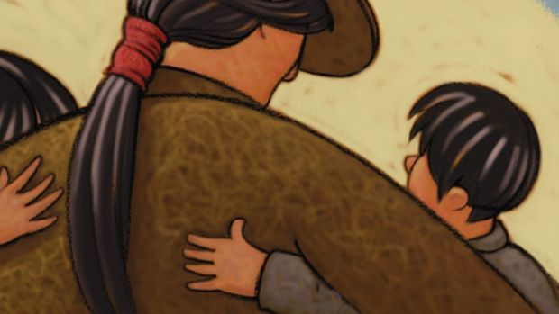 An excerpt from Shin-chi's Canoe by Nicola Campbell. Illustrated by Kim LaFave.