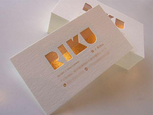 箔押し×折合加工 | 活版印刷、特殊加工の名刺│メイシスト