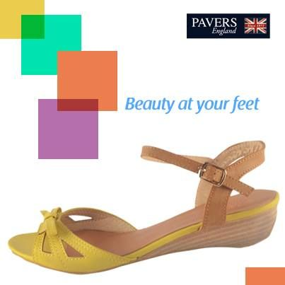Add a pop of #colour to your feet with these bright yellow #sandals and #elegance to your personality.