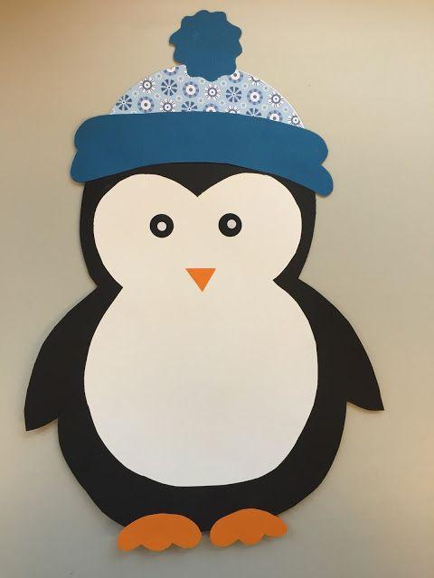 klassenkunst fensterdeko pinguin freebie basteln mit. Black Bedroom Furniture Sets. Home Design Ideas