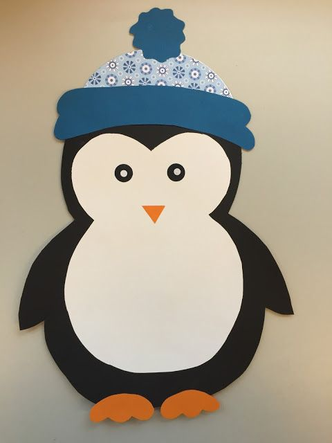 KLASSENKUNST: Fensterdeko: Pinguin & Freebie