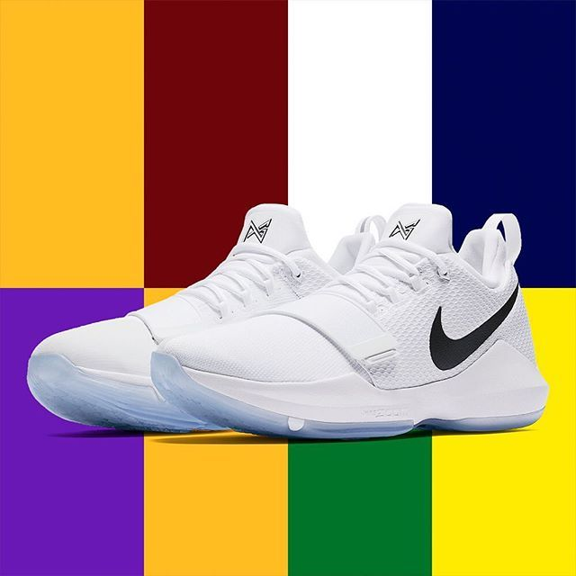 One of the biggest plot lines of this NBA offseason is Paul George and his potential move to a new team. Aside from sticking around with the Pacers to play out the final year of his contract, the Lakers, Cavs, and Celtics appear to be potential landing spots for the star Forward. This clean white/black PG1 colorway seems to be undecided! For a detailed look at this upcoming release, tap the link in our bio. #sneakerwatch #instagramanet #sneakeraddict #kicks0l0gy #kicksonfire