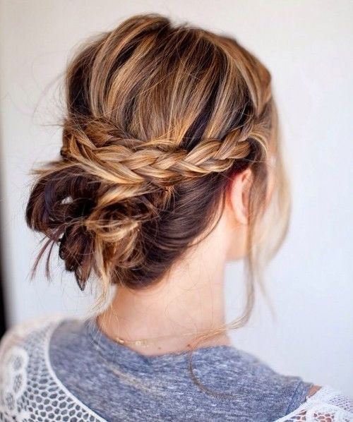 Lovely Pulled Back Braided Updo Hairstyles