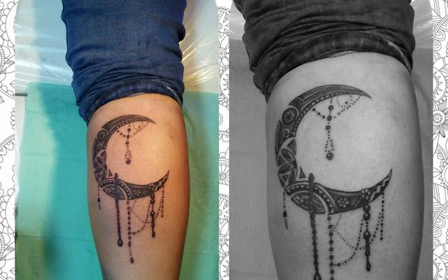 Google+ Ornamental Moon  By Nilla Piercing  #bodymod #ornamentaltattoos #tatuaggiroma #tatuaggiopolpaccio #mezzaluna #blackandgray  #tatuaggio #tattoo #ink #tattoos #tatuaggi #inked #tattooed #blacktattoo #luna #moon #bodyart #mendhi #paisley #romanord #pontemilvio #tatuatrice #tattooartist