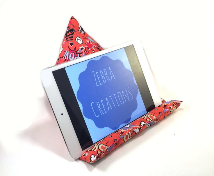 ipad cushion stand, tablet cushion stand, kindle stand, e-reader stand, kindle rest by ZebraCreationsUK on Etsy